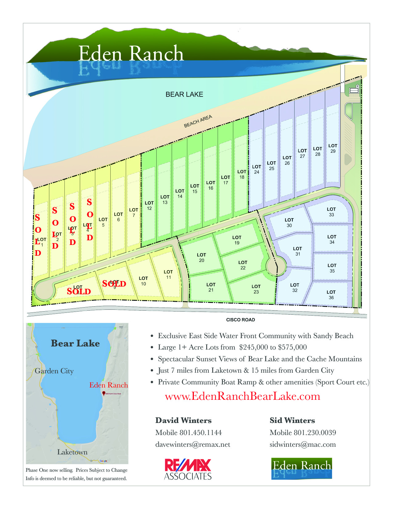 Eden Ranch Available Lots